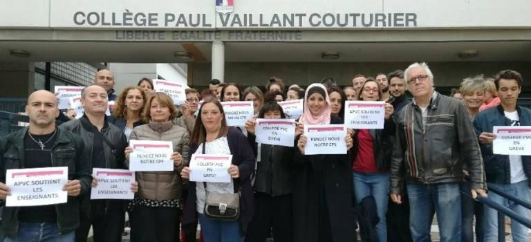 Le collège Paul Vaillant-Couturier toujours en grève à Champigny