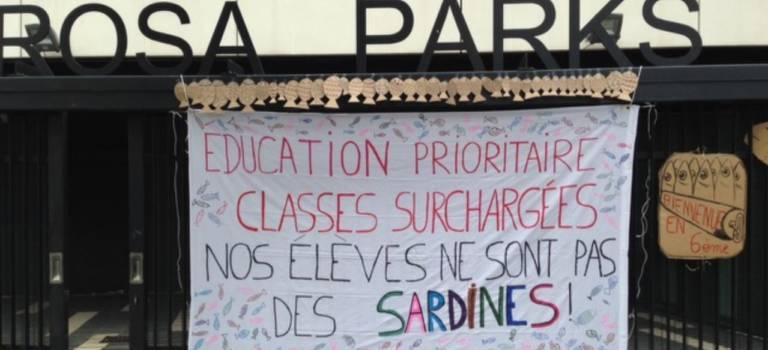 3ème jour de grève au collège Rosa Parks de Gentilly