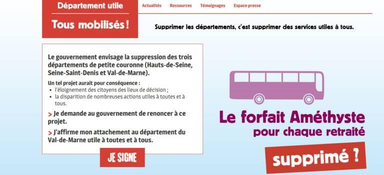Le Val-de-Marne lance une pétition contre sa disparition
