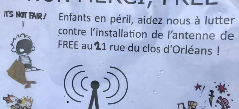 Manif contre le projet d'antenne-relais Free à Fontenay