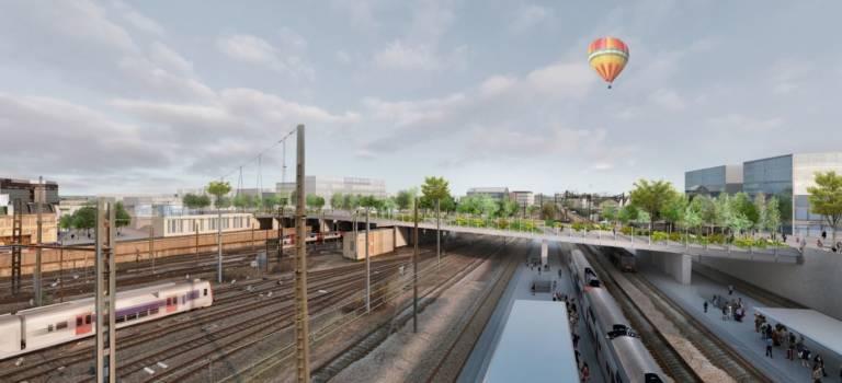 Vinci va construire le pont au-dessus des rails de Vitry