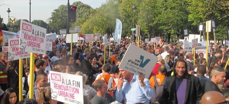 Les bailleurs sociaux du Val-de-Marne ont manifesté à Paris