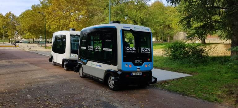 Paris : bus autonome au bois de Vincennes