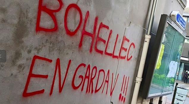 Tag rageux contre maire à Villejuif