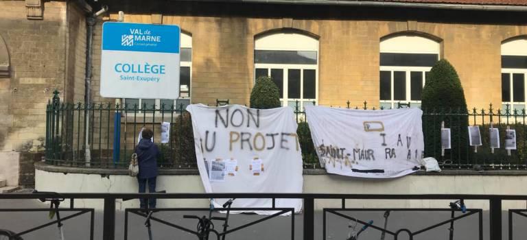 A Vincennes: le collège Saint-Ex vent debout contre son transfert à Vitry