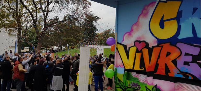 Street-art à Créteil: ce transfo symbole du vivre ensemble