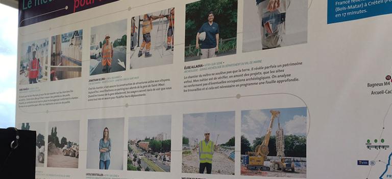 Ils construisent le Grand Paris Express: expo à Champigny