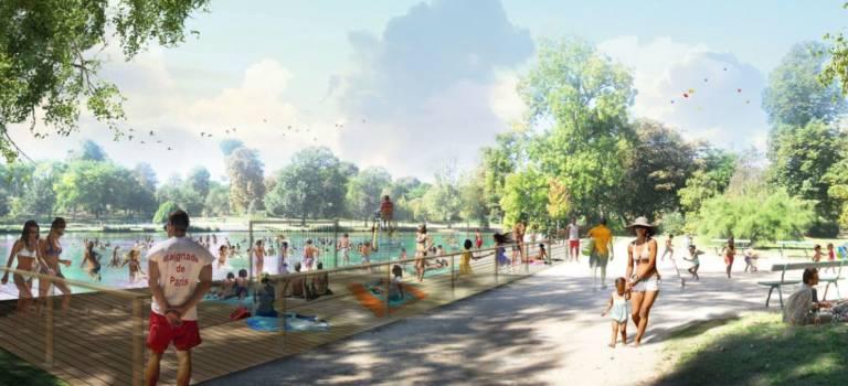 Pas de baignade au lac mais une piscine mobile au bois de Vincennes