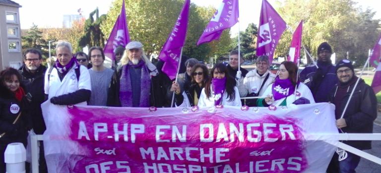 Les hospitaliers de l'AP-HP ont marché de Créteil à Limeil