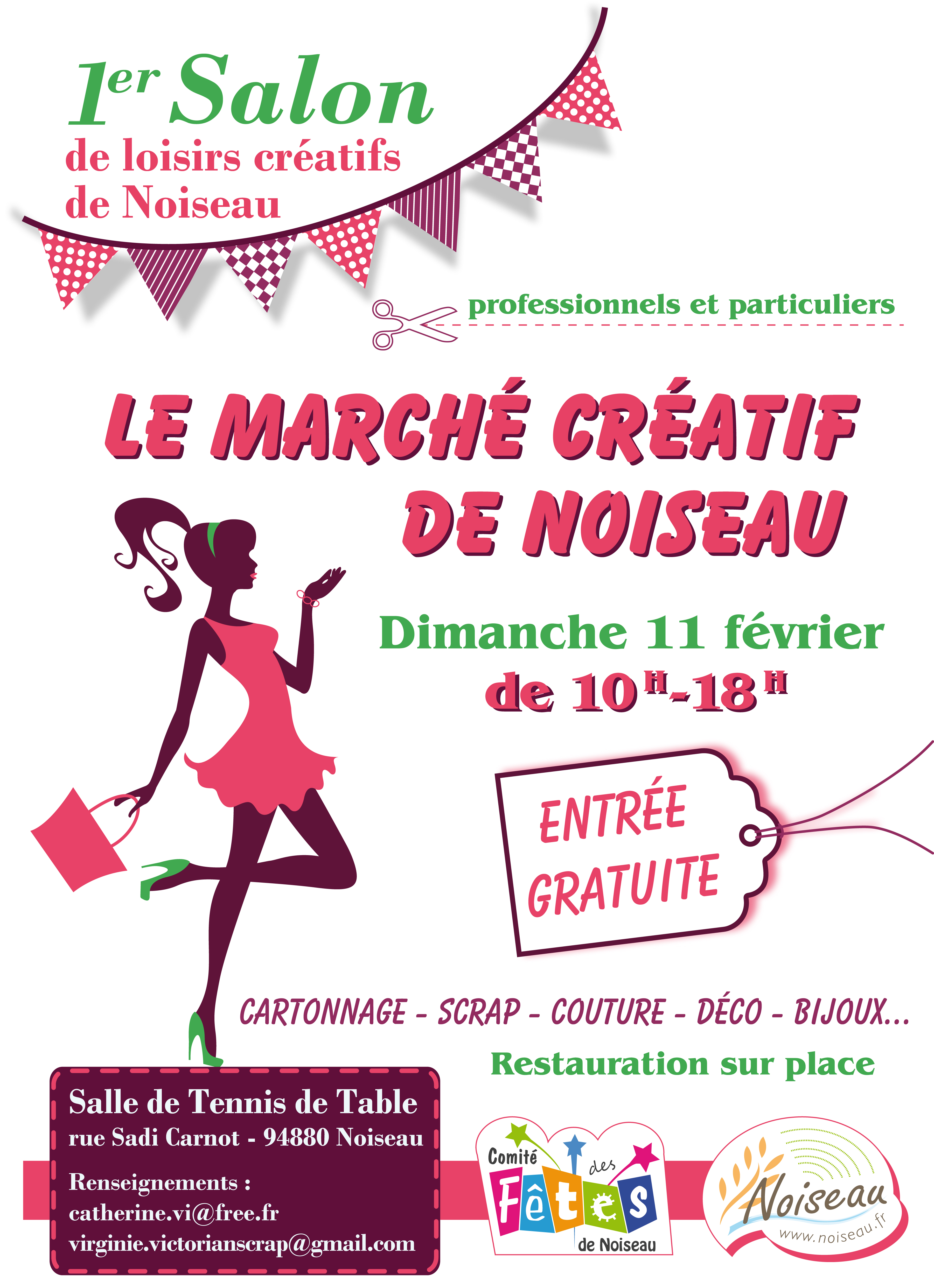 Salon des loisirs cr atifs noiseau 94 citoyens - Salon loisirs creatifs 2017 paris ...