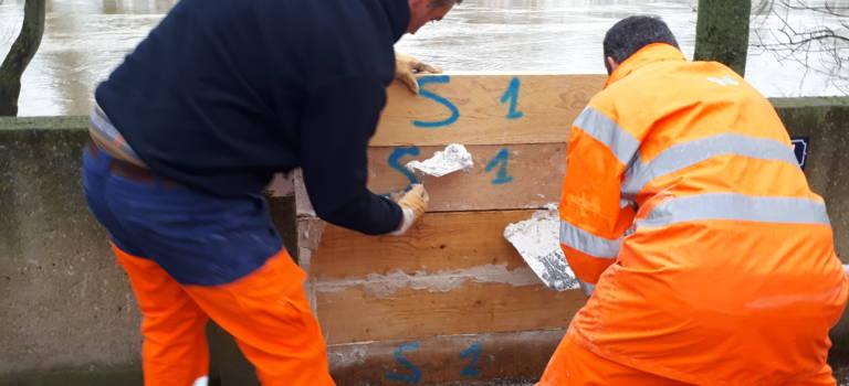 Inondations: les murettes anti-crues tiennent le choc