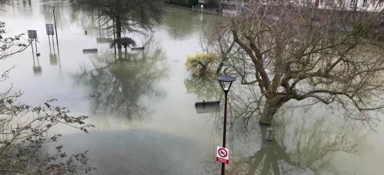 Inondations en Val-de-Marne:  Marne et Seine en décrue