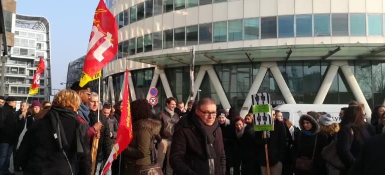 Grève et rassemblement à L'Ofpra de Fontenay-sous-Bois
