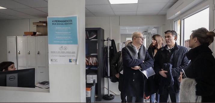 En campagne pour la tête du PS, Olivier Faure a visité le Chum d'Ivry