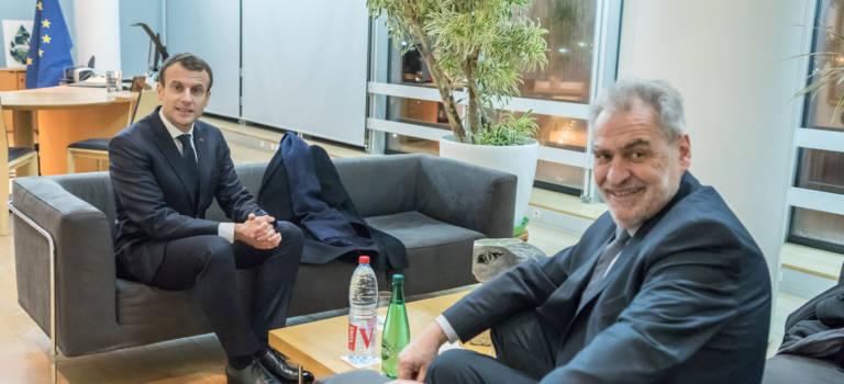 Favier a reçu Macron à l'hôtel départemental du Val-de-Marne