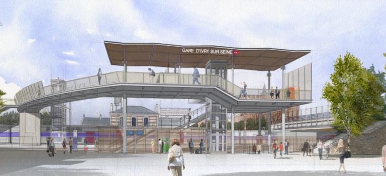 Ivry-sur-Seine, 2 ans de travaux pour la nouvelle gare