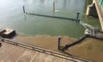Nappe brunâtre après le curage d'une canalisation à Villeneuve-Saint-Georges