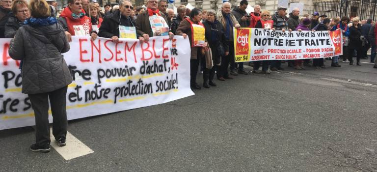 Les retraités du 94 en colère ont battu le pavé à Montparnasse