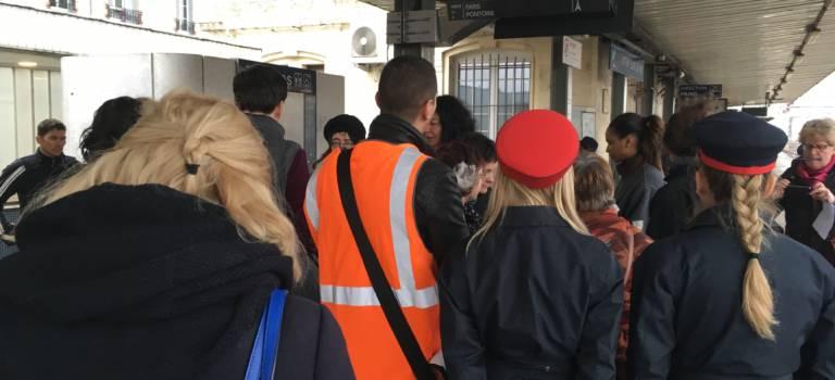 Marche exploratoire de femmes en gare RER C de Vitry-sur-Seine