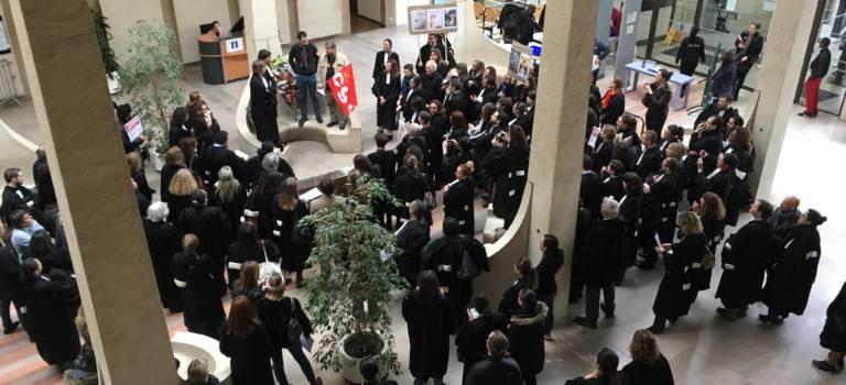 Magistrats, avocats et greffiers ont donné de la voix au TGI de Créteil