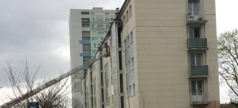 Incendie dans un immeuble à Bonneuil-sur-Marne