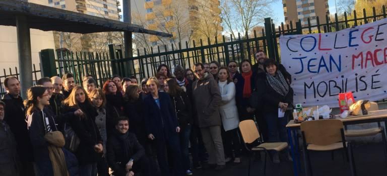 La mobilisation monte en puissance au collège Jean Macé de Fontenay