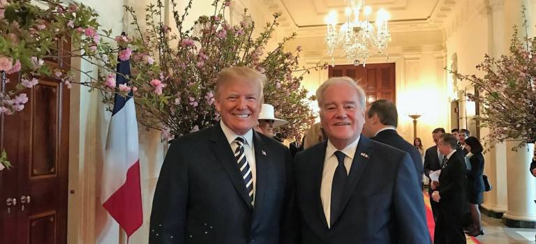 Christian Cambon reçu par Donald Trump à la Maison blanche