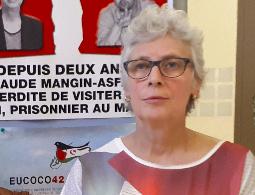 Manif de soutien à Claude Mangin devant l'Assemblée nationale
