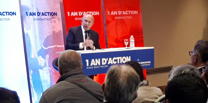 A Rungis, Gérard Collomb défend la présidence Macron devant un public acquis