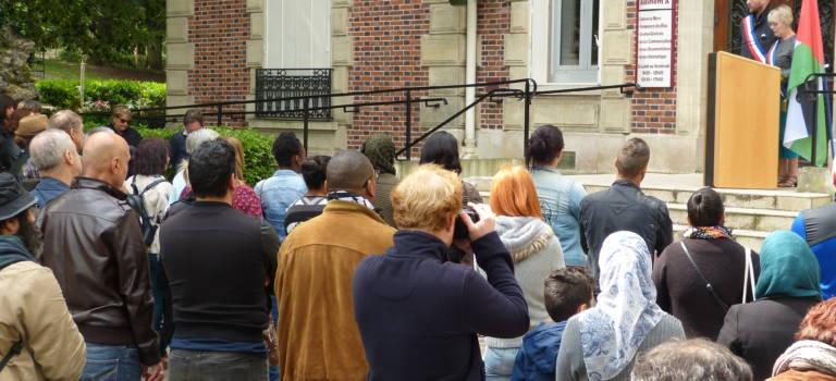 Manif contre la répression à Gaza à Champigny-sur-Marne