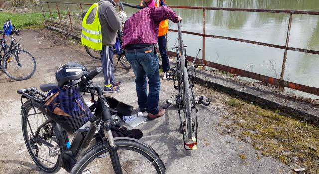 Balade nocturne à vélo de la Marne : pique-nique au plan d'eau de Vaires