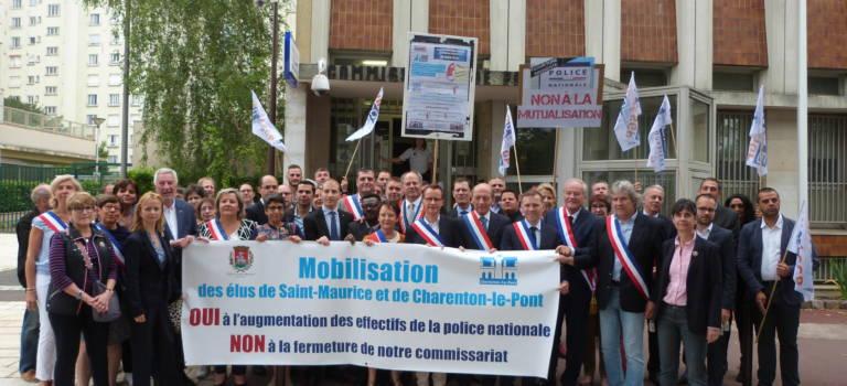 Les maires de Charenton et Saint-Maurice pétitionnent pour la police
