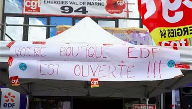 La CGT ressuscite le guichet EDF d'Ivry fermé depuis 8 mois