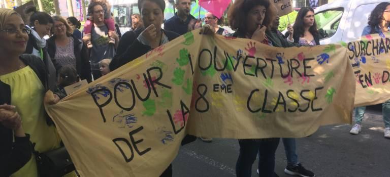 Manifestation et dernières actions contre la carte scolaire de rentrée en Val-de-Marne