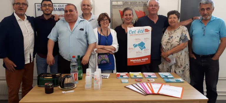 Mathilde Panot ouvre le QG des insoumis du Val-de-Marne