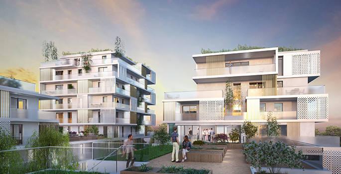 Zac des Ardoines: 99 logements sociaux pensés comme des maisons