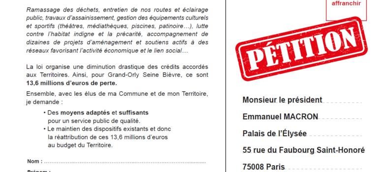 Grand Orly Seine Bièvre pétitionne pour sauver sa dotation intercommunale