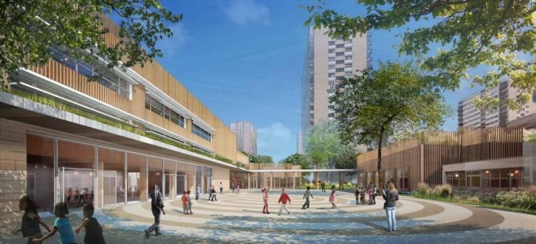 A Fontenay-sous-Bois, la future école Langevin des Larris en images
