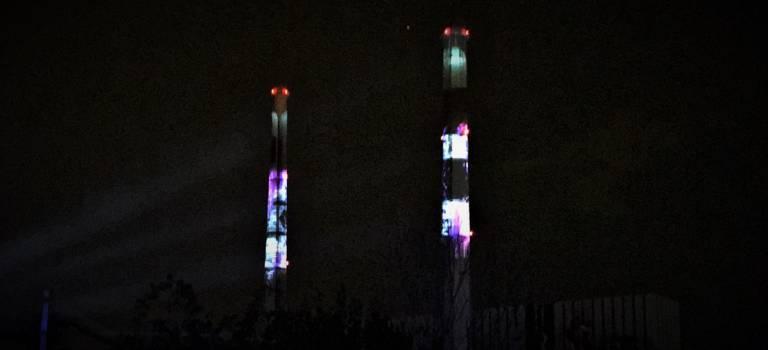 Les tours EDF ont fait leur nuit blanche à Vitry-sur-Seine