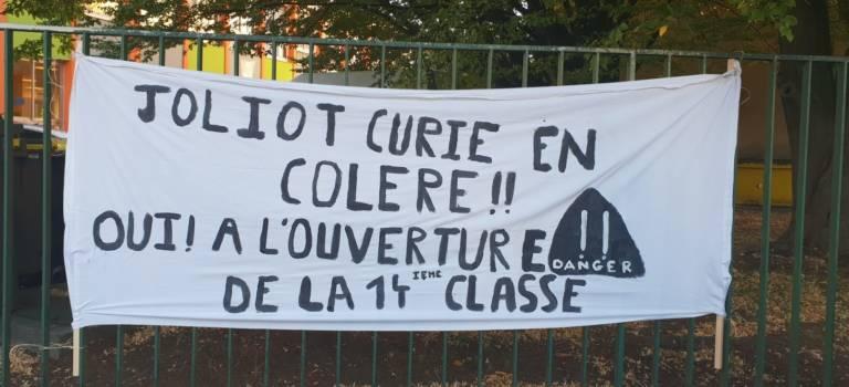 Mobilisation à Joliot-Curie Choisy-le-Roi pour la 14ème classe