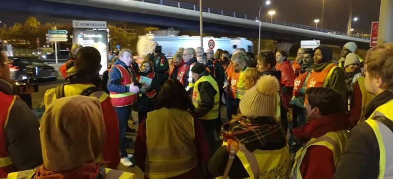 La CGT se rassemble au carrefour Pompadour de Créteil