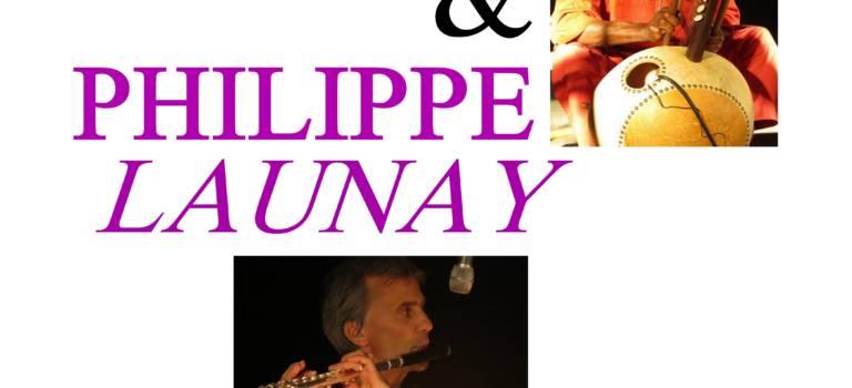 Cheick Tidiane et Philippe Launay en concert au Plessis-Trévise