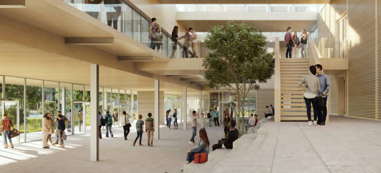 Le futur lycée Georges Brassens de Villeneuve-le-Roi en images