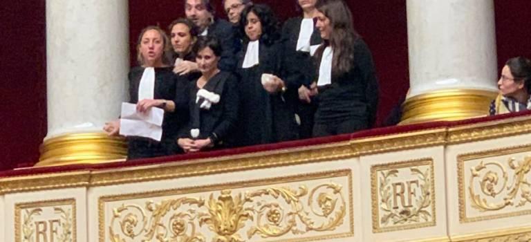 Le coup d'éclat d'avocats du Val-de-Marne à l'Assemblée nationale