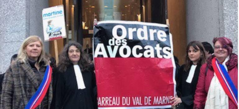 Nouveau blocage matinal du TGI de Créteil par les avocats