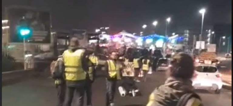Gilets jaunes et VTC ont occupé l'entrée du MIN de Rungis