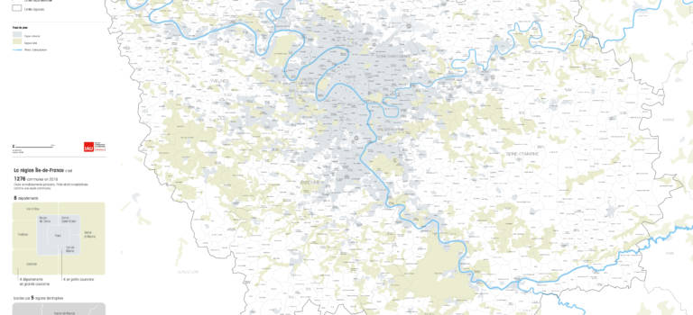 Population 2019 Ile-de-France par cantons