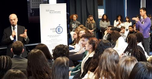 Réforme du lycée : ministres enthousiastes et élèves perplexes à Saint-Maur-des-Fossés