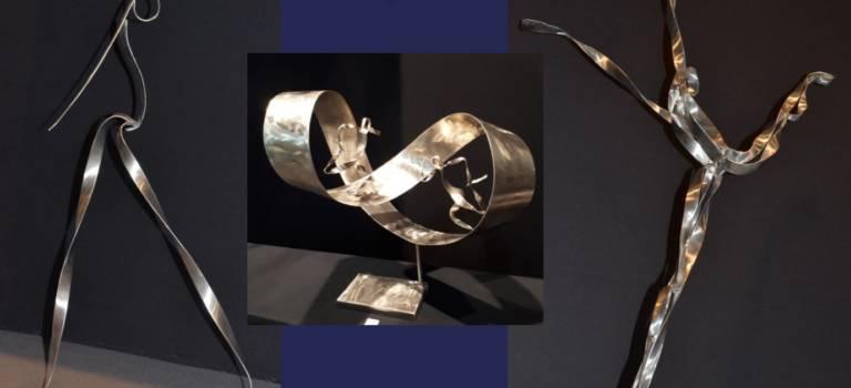 Planètes  : les sculptures d'acier de Sophie Raine à Limeil-Brévannes
