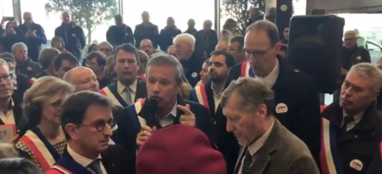 Quand Dupont-Aignan menace les députés qui votent la privatisation d'ADP